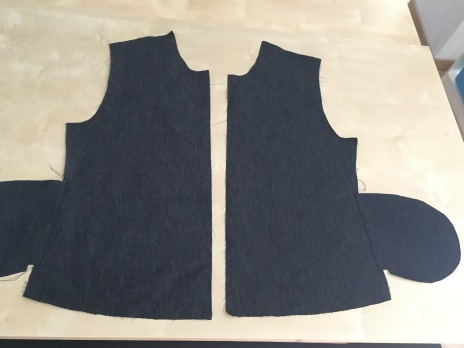1-coudre poches sur cotes devant